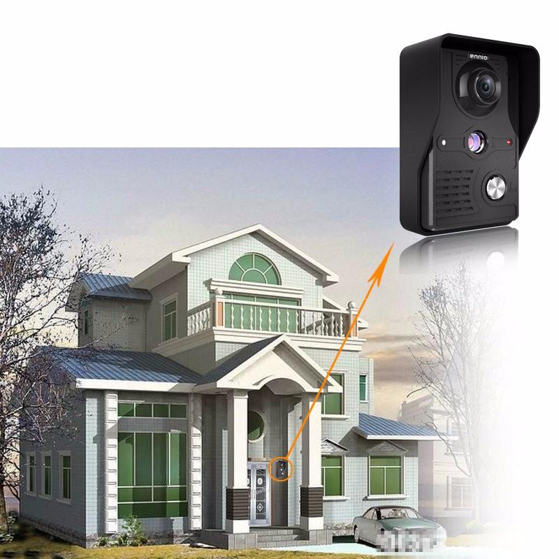 ENNIO SY813MK11 7 Inch TFT LCD Video Door Phone Doorbell Intercom Kit 1 Camera 1 Monitor Night Vision