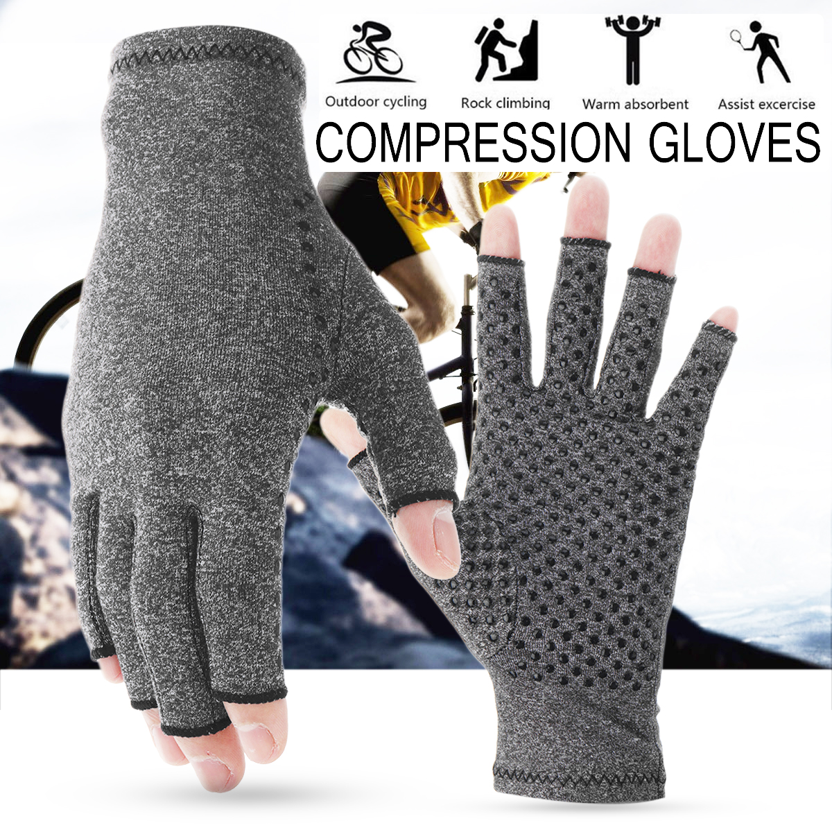 ed2770db8f 1 pair anti arthritis gloves ease pain relief compression gloves ...