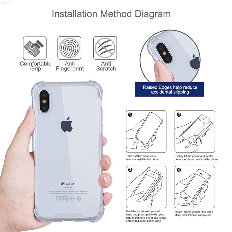 Bakeey Premium Air Cushion Corner Anti Fingerprint Transparent Case For iPhone X