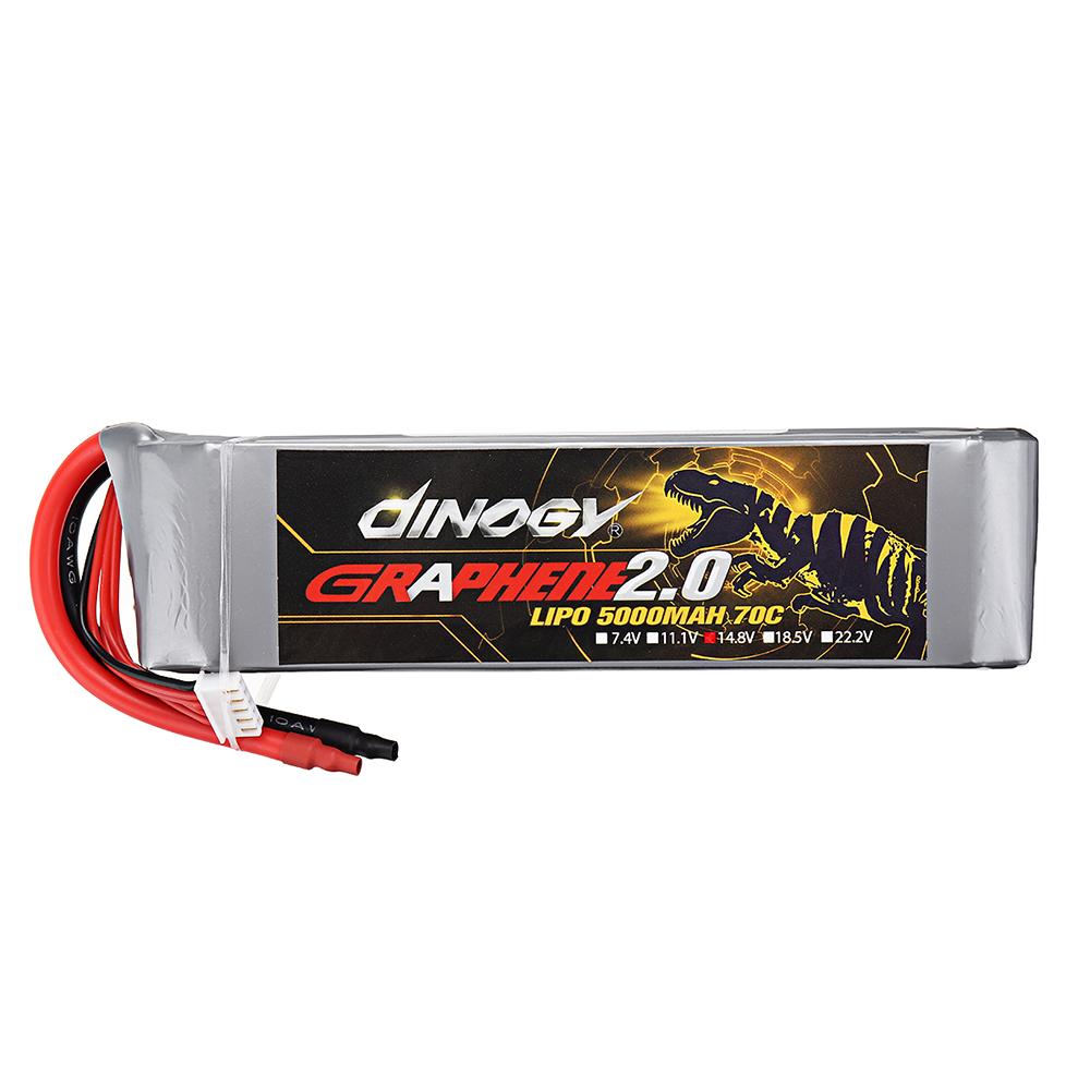 DINOGY GRAPHENE 2.0 14.8V 5000mAh 70C 4S Lipo Battery for FPV RC Quadcopter - Photo: 2