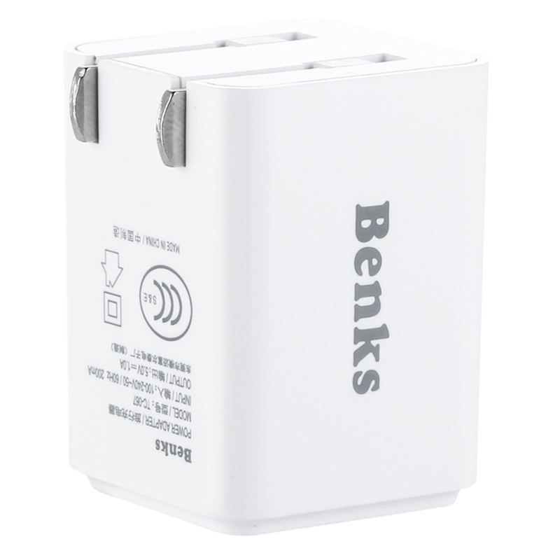 Benks Portable Mini Travel Wall Charger Universal Adapter For iPhone iPad Tablet Samsung HTC Huawei