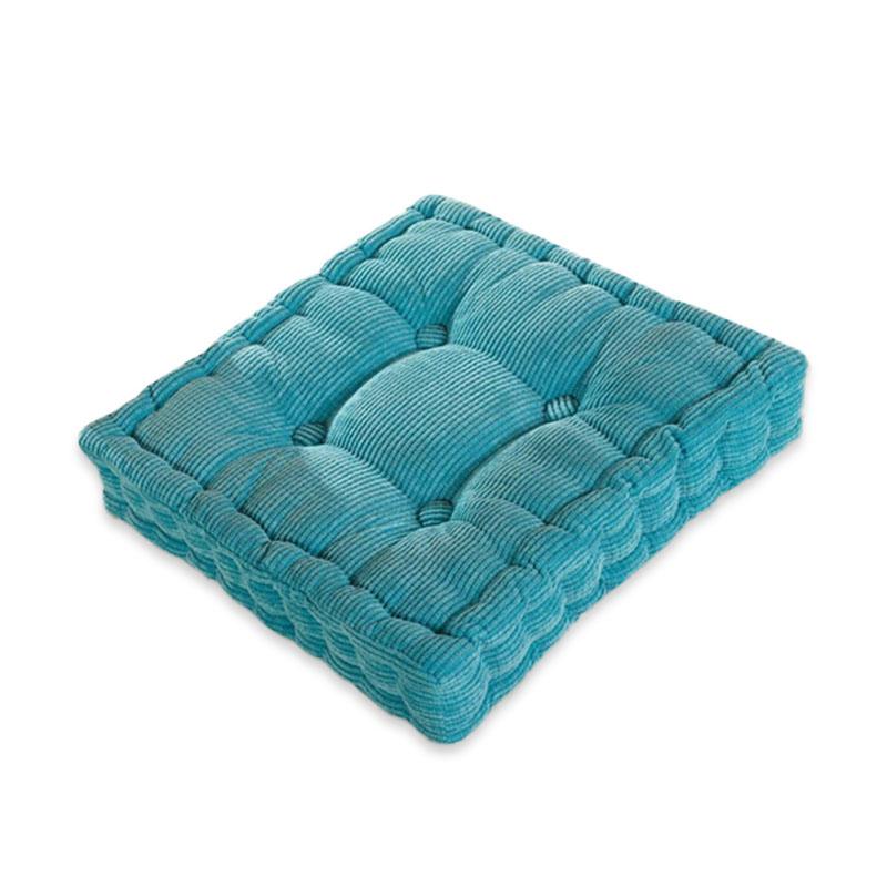 40 x 40cm Soft Washable Corduroy Tatami Floor Seat Cushion Square Plaid Thicken Square Winter Warm Chair Pad Cushion Stereo Plush Dining Chair Cushion Soft Car Seat Cushion Home Floor Decor
