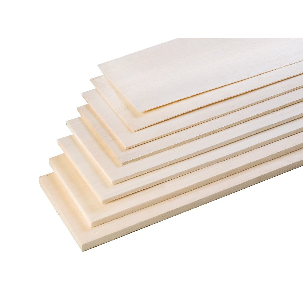 AEORC AAA+ Balsa Wood Sheet Ply 500mm Length 100mm Width 1.5/2/3mm Thickness For RC Airplane