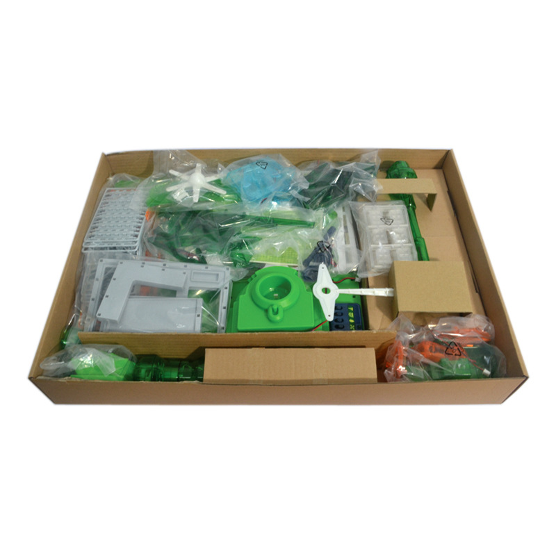 Greenex Solor Energy Green Energy Paradise Windmill Wind Power Toy 260PCS DIY 3D Building 100% Battery Free