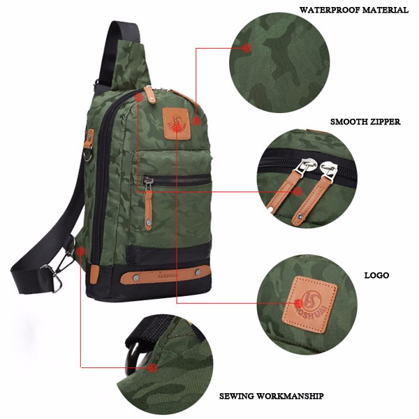 Camouflage Men Outdoor Sport Tactical Crossbody Bag Chest Bag