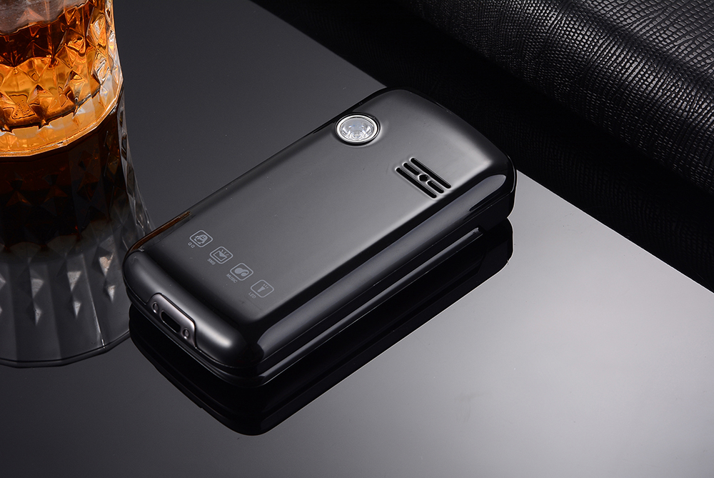 GZONE Z8 2.8 inch 3200mAh Dual Display Large Button Torch Dual Sim Dual Standby Flip Feature Phone