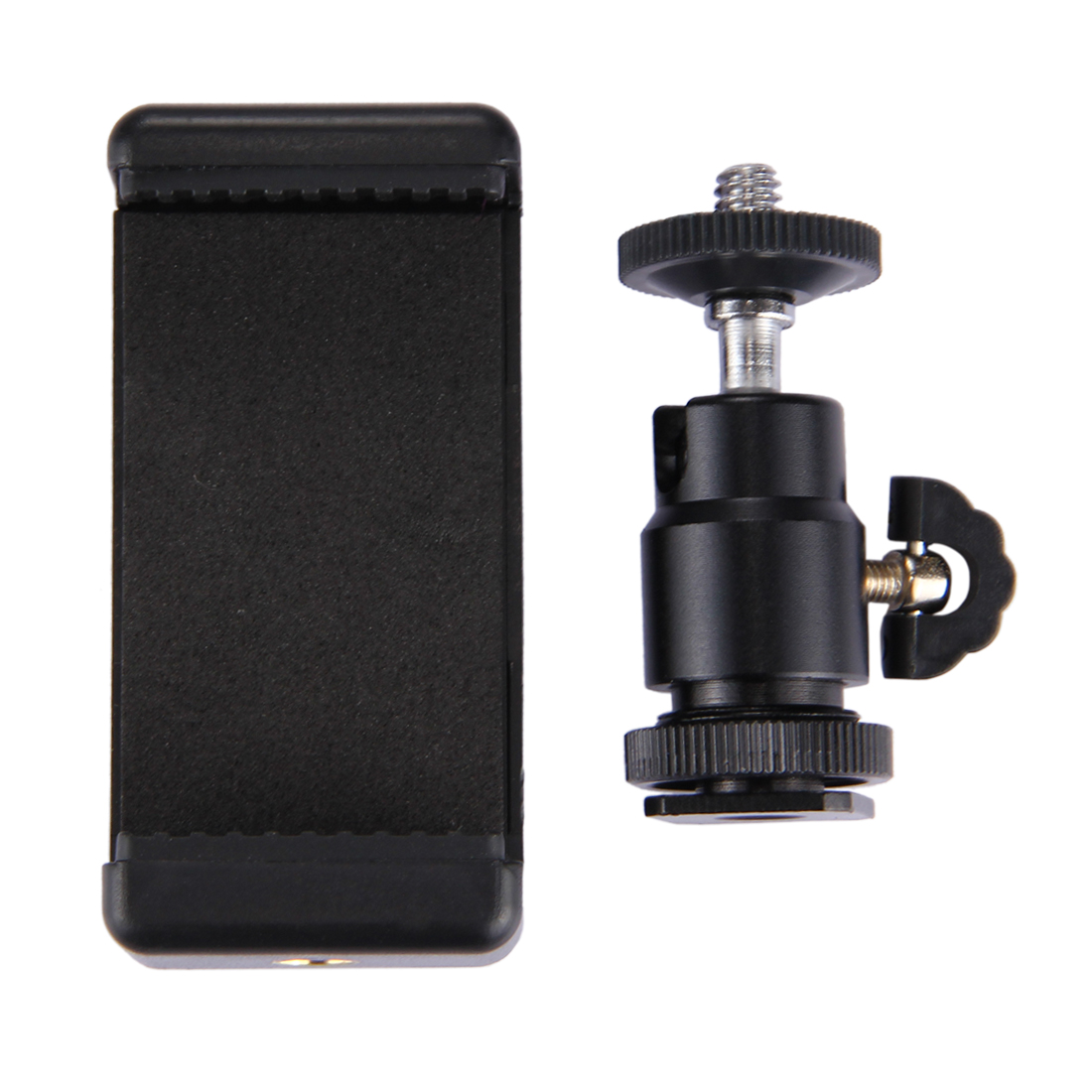 PULUZ PU214 Hot Shoe Tripod Head with Tripod Stand Clamp for iPhone Samsung Huawei Smartphones
