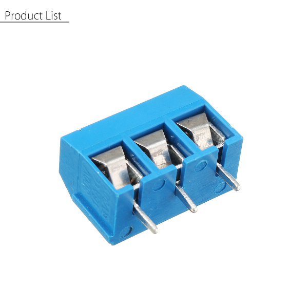 Excellway® 3 Pin 5.08mm Printed Circuit Board Connector Block Screw Terminals