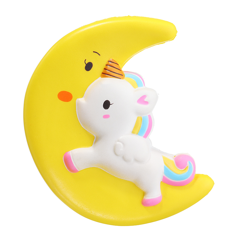 Cartoon Unicorn Moon Pegasus Squishy jumbo kawaii Squeeze Toy 11cm Sweet Slow Rising For Girls