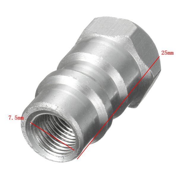 1/4 Inch 8v1 Quick Valve Conversion Connector R12 R22 R502 to R134A Adapter Alloy