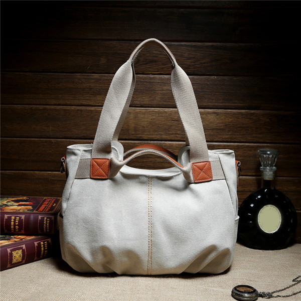 Women Vintage Canvas Tote Bags Casual Shoulder Bags Capacity Shopping Bags Crossbody Bags
