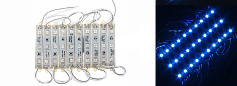 10 Pieces 5050 SMD 30 LED Module Rigid Strip String Light Multi-Colors Waterproof DC 12V