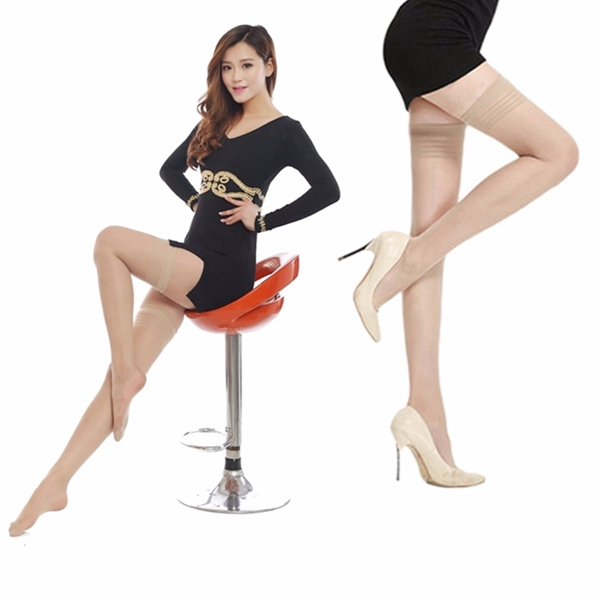 Women Sexy Lace Top Stay Up Thigh High Stockings Tights