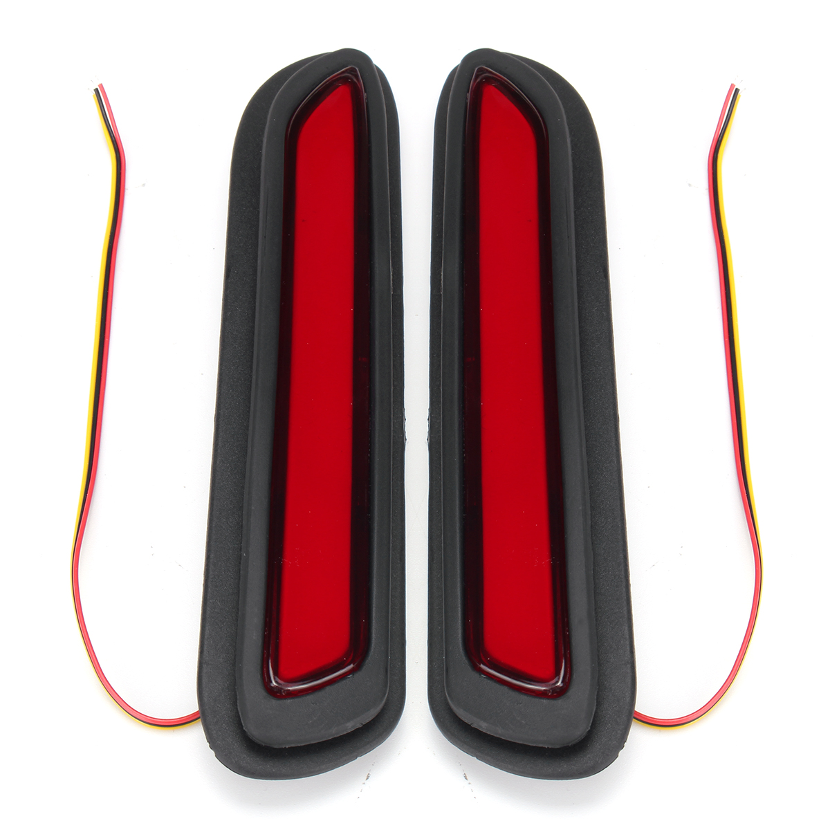 Pair 12V 5W Car LED Bumper Reflectors Tail Light Red Brake Lamp for Mitsubishi AU