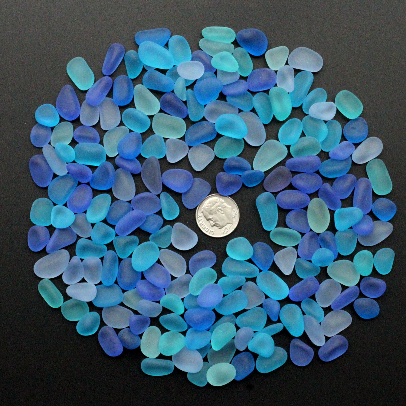 20Pcs Sea Beach Glass Beads Jewelry Vase Aquarium Fish Tank Decorations Craft 10-16mm