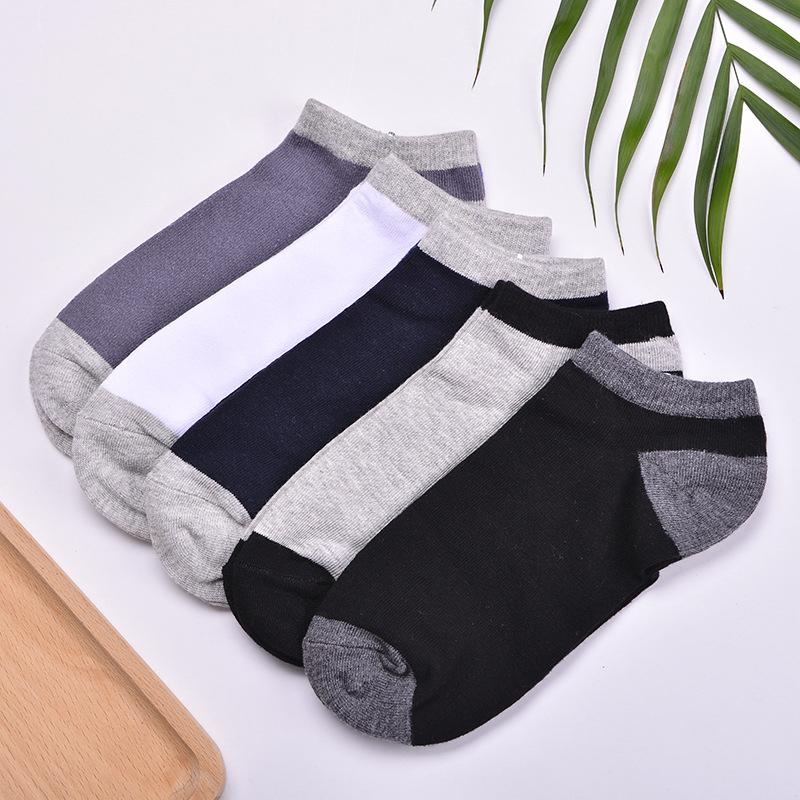 5 Pairs Men Summer Cotton Sweat Deodorant Shallow Sock