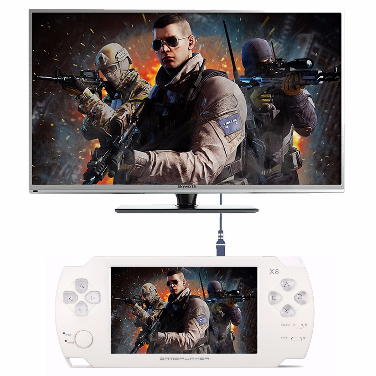 X8 Ultra Thin 8G Video Touch Screen with Video MP3 Player Camera Handheld Retro Game Console