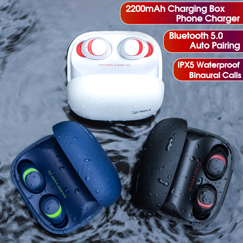 [Bluetooth 5.0] Bakeey TWS Earphone Noise Cancelling Auto Pairing 2000mAh Phone Charger Box 5