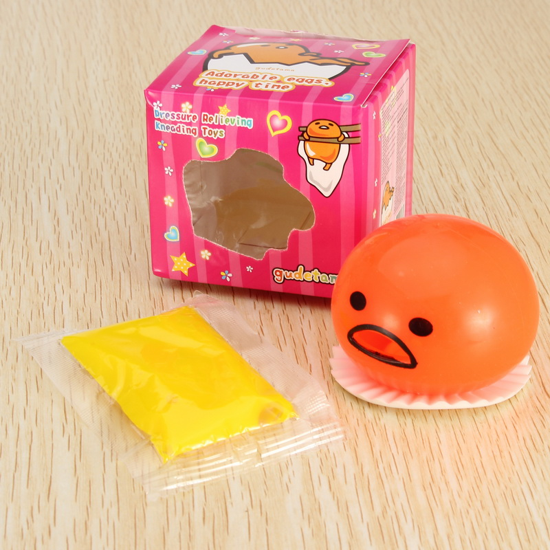 Squishy Vomitive Slime Egg With Yellow Yolk Stress Reliever Fun Gift