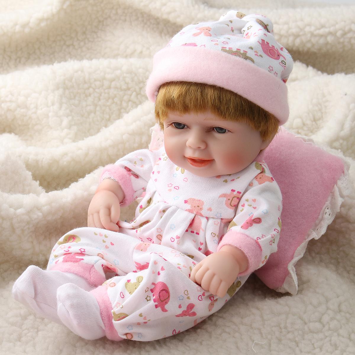 11inch Reborn Baby Doll Girl Silicone Handmade Lifelike Baby Dolls Play House Bath Toys