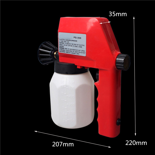 600mL 220V 75W Electric Spray Gun Airless House Fence Sprayer Painting Tool