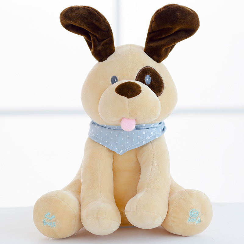 Stuffed Animals & Plush Electric Dog Doll Play Music Hide And Seek Education Appease Baby Toy
