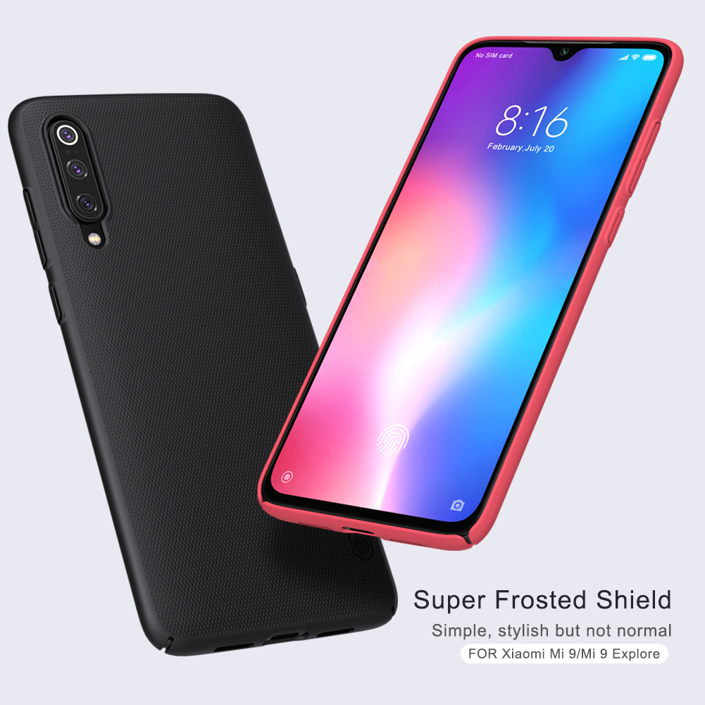 NILLKIN Frosted Shield PC Hard Back Protective Case For Xiaomi Mi9 Mi 9 / Xiaomi Mi9 Transparent Edition