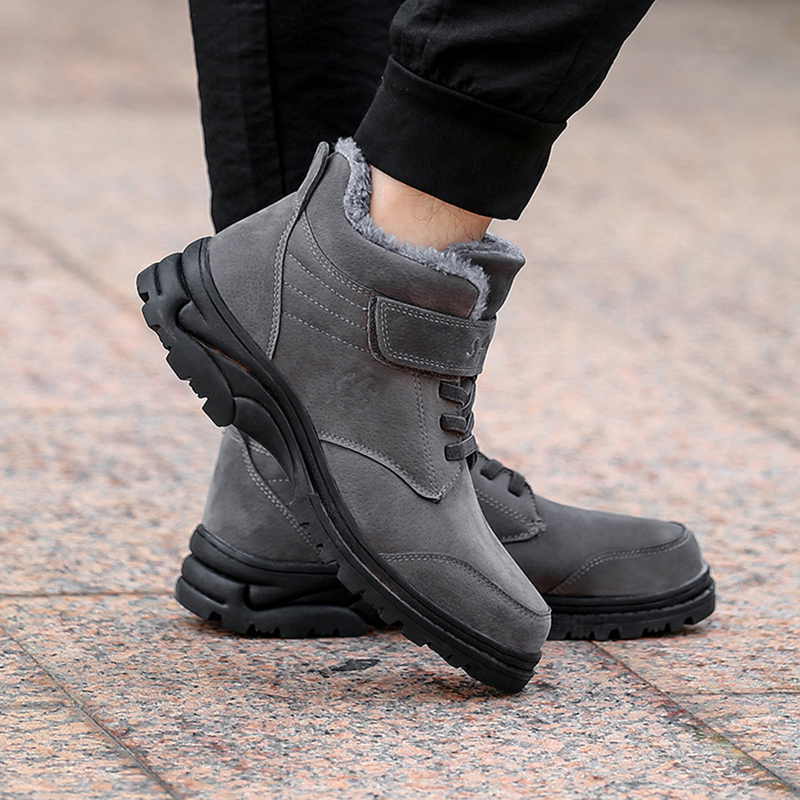 Women Hook Loop Warm Lining Casual Ankle Boots