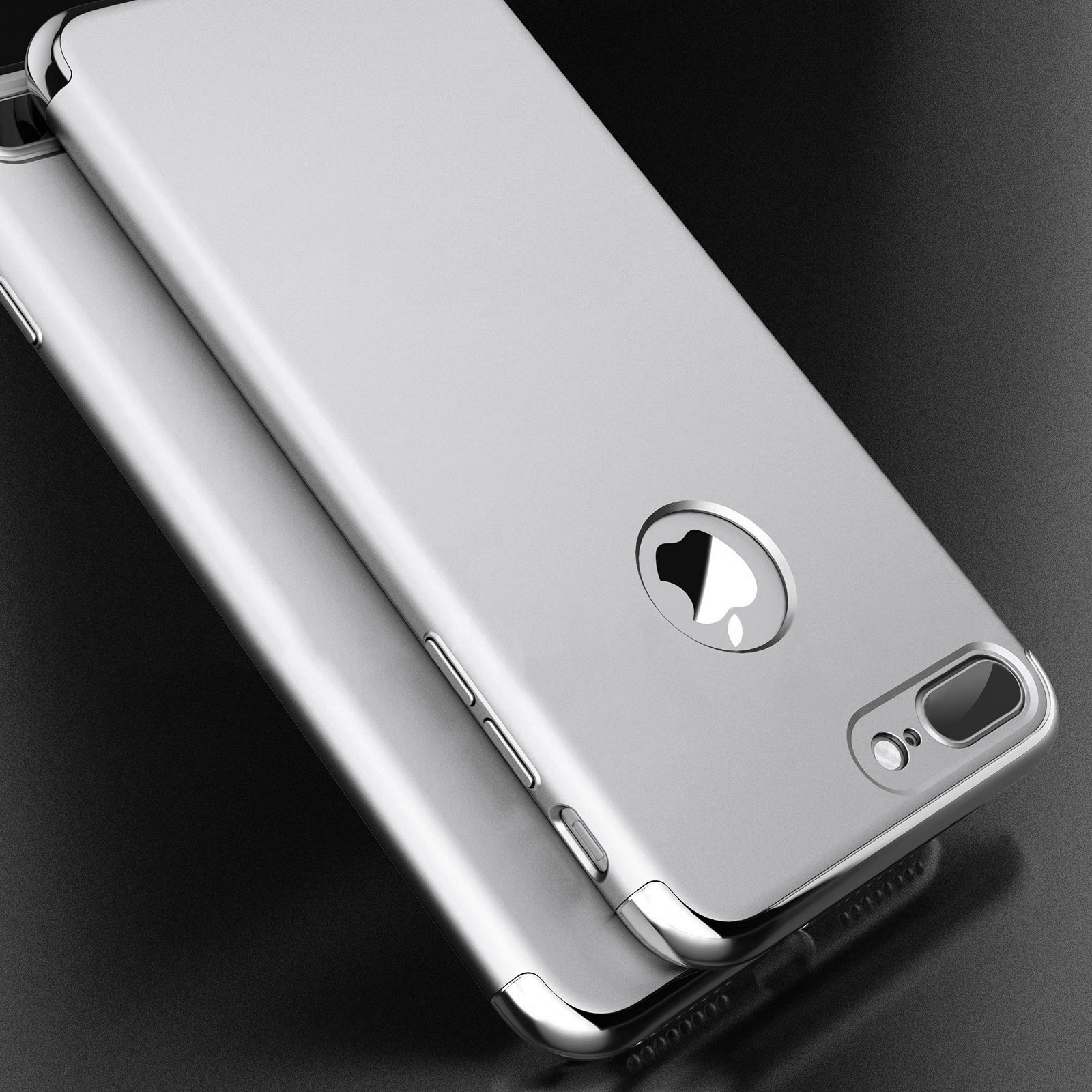 3 In 1 Plating Ultra Thin Hard PC Case Cover For iPhone 7 Plus/8 Plus