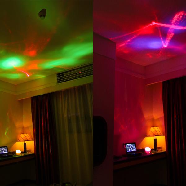 Color Diamond Polar Light Projector Multicolored Light with Sound Romantic Lamp Projector
