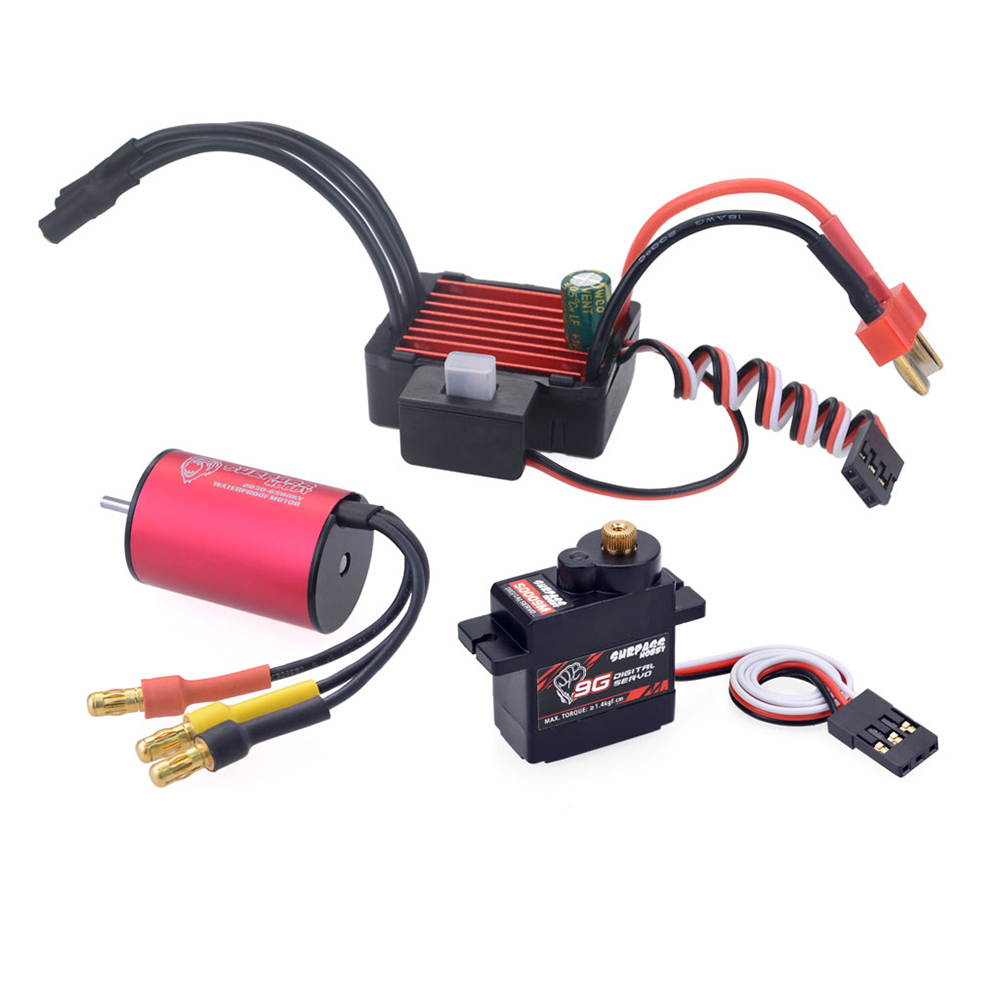 Surpass Hobby KK 2030 Brushless Motor 25A Brushless ESC 9G Digital Servo Brushless Set for RC Car Model Parts