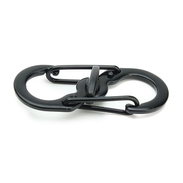 5pcs S Shape Plastic Steel Anti Theft Carabiner Keychain Hook Clip EDC Tool Black