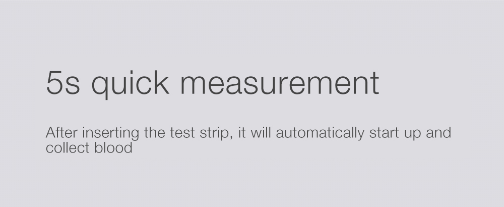 XIAOMI IHealth AG-607 Blood Glucose Meter With Test Strips Lancets 5Sec Smart Blood Glucose Meter LCD With Backlight