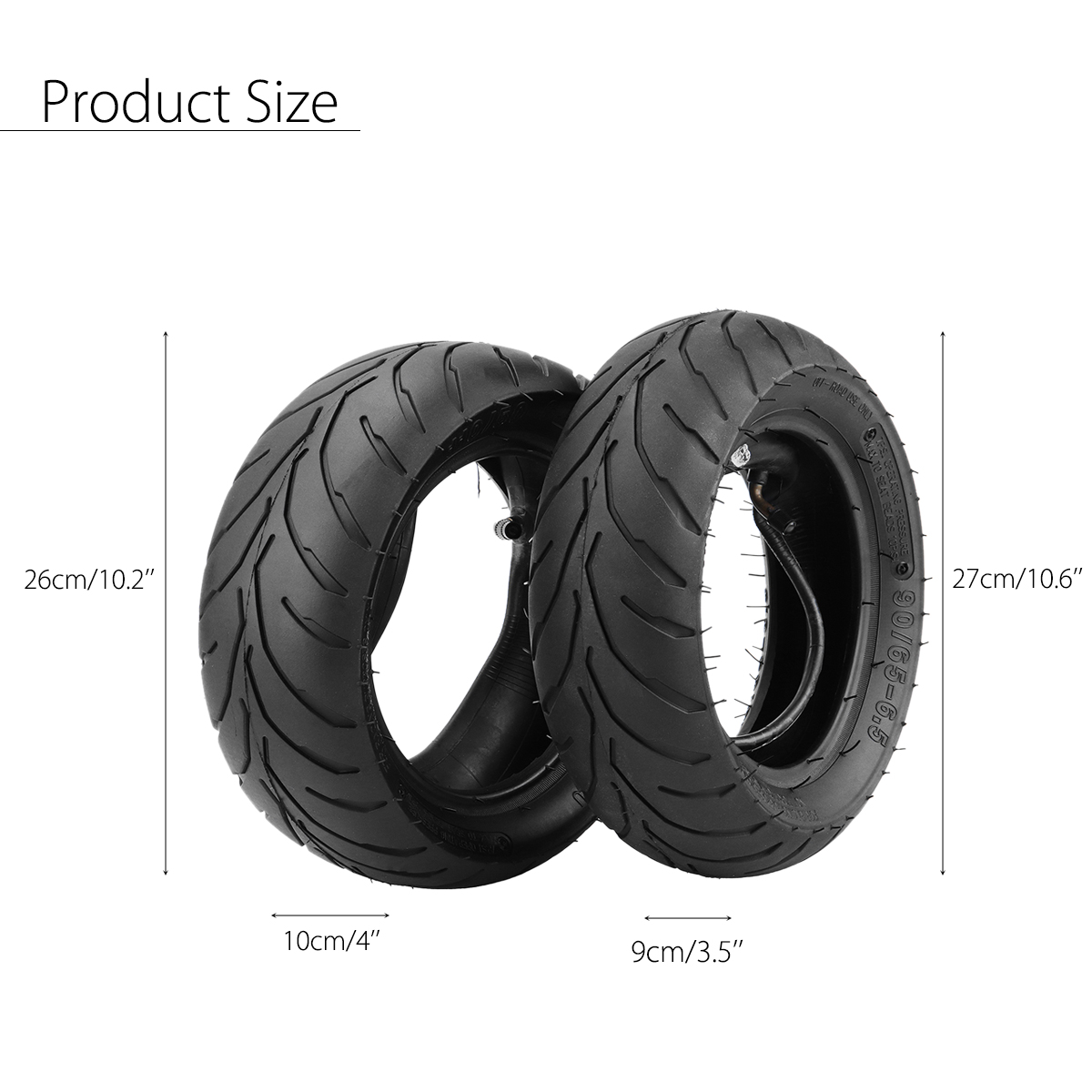 4PCS 47cc 49cc Front+Rear Tire Rim+Inner Tube Mini Pocket Bike 110/50/6.5+90/65/6.5