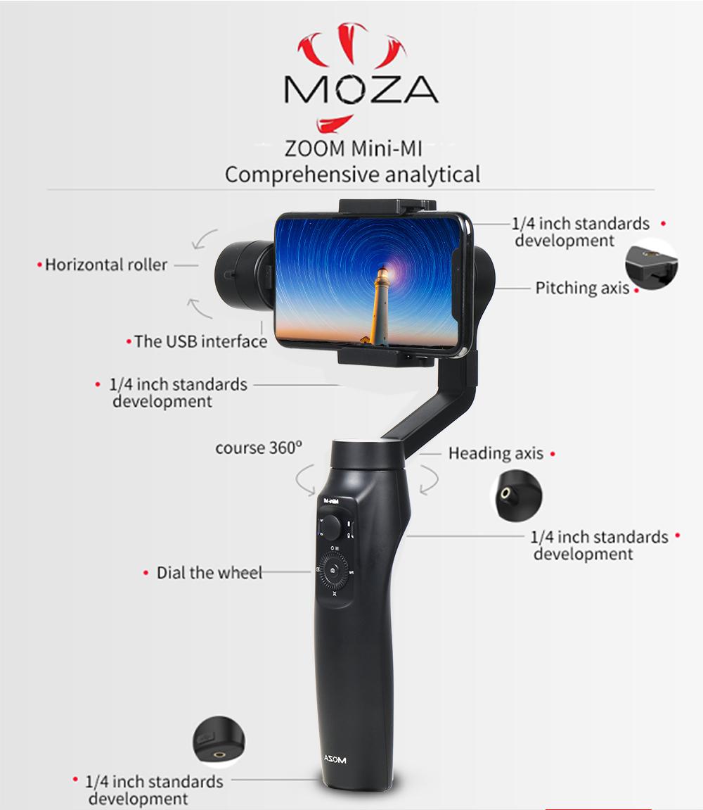 MOZAMini-Mi 3-Axis Handheld Gimbal Stabilizer for Smart Phone/Gopro/DJI Osmo with Tripod - Photo: 8