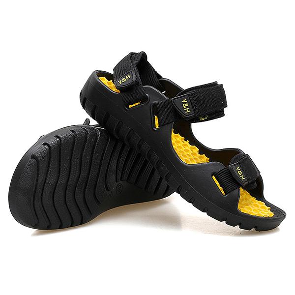 Men Soft Sole Beach Breathable Hook Loop Sandals