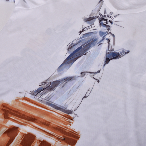 Mens Statue Of Liberty Short Sleeve T-shirts Casual Breathable Slim Fit Top Tees