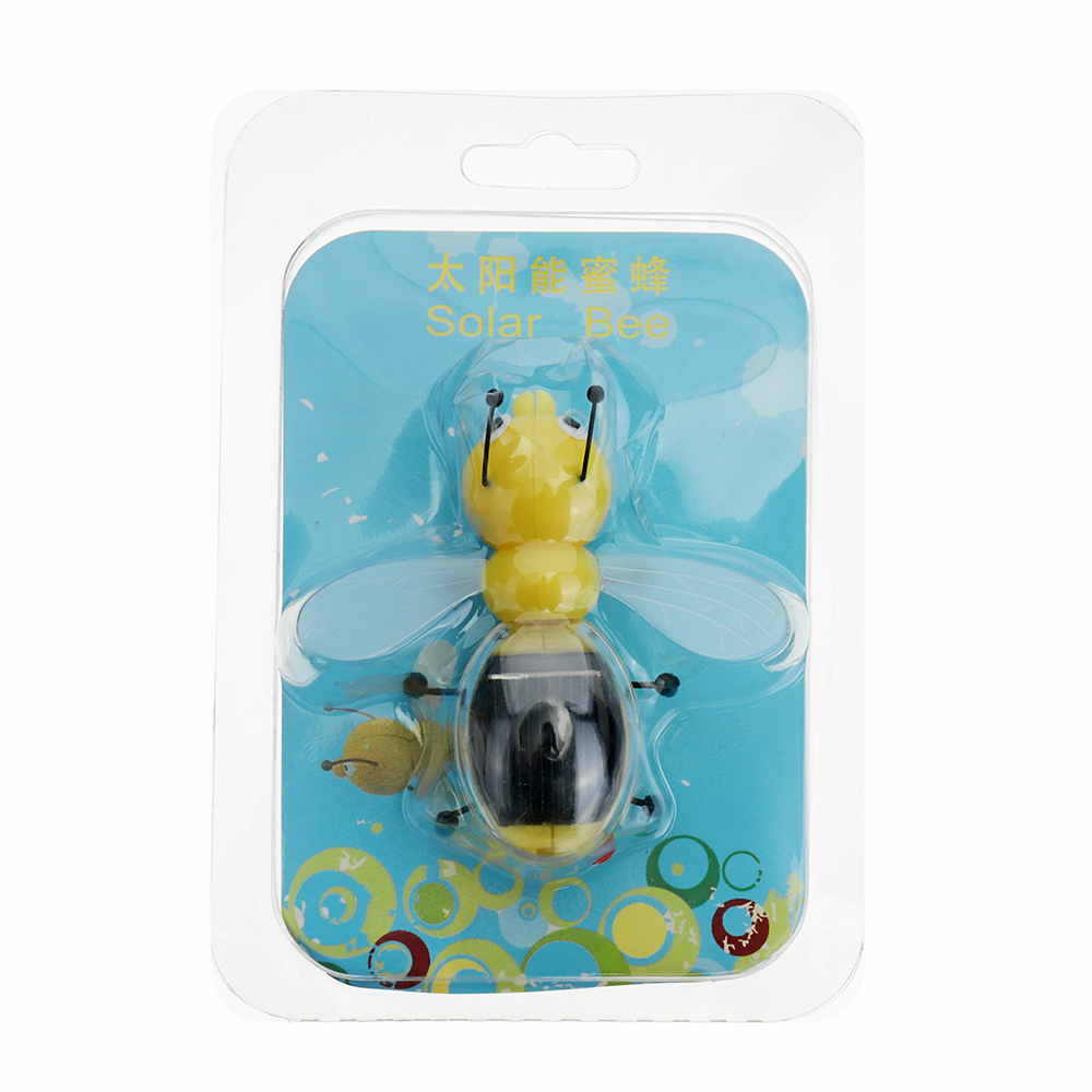 8cm Solar Power Toy Cute Bee Developmental Gadget Toy Animal For Kid Gift