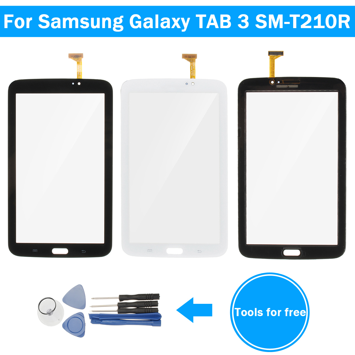 Touch Screen Replacement Assembly + Tools for Samsung Galaxy Tab 3 SM-T210R