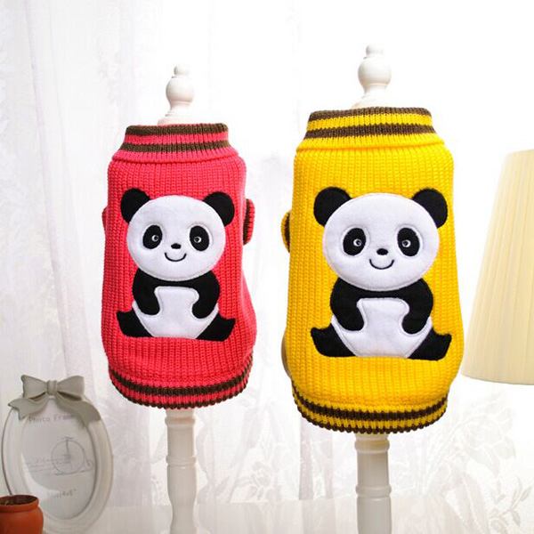 Panda Pet Dog Cat Sweater Comfortable Warm Autumn Winter Sweater