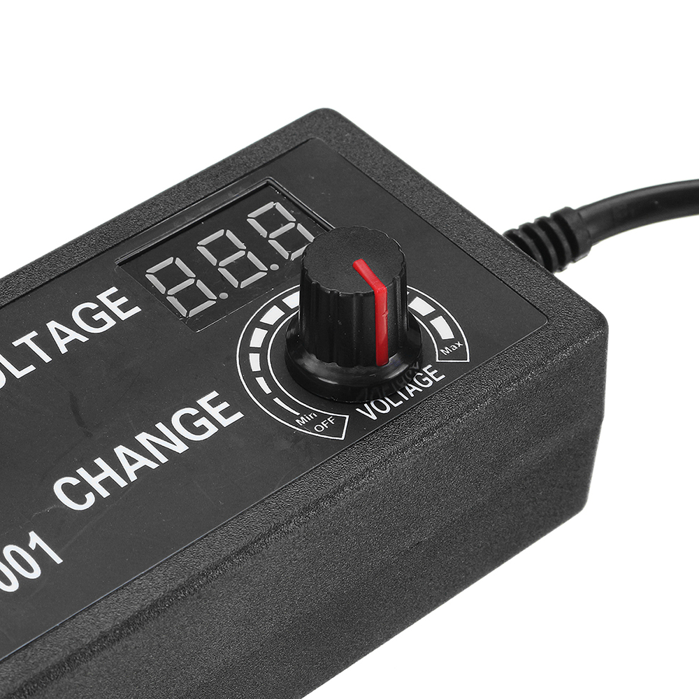 12th Anniversary VIP Special Edition Excellway® 3-12V 5A 60W AC/DC Adapter Adjustable Power Adapter Display EU Plug