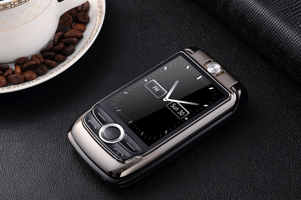 BLT V998 2.6'' 2000mAh Dual Touch Screen Dual SIM Magic Voice Flip Feature Phone