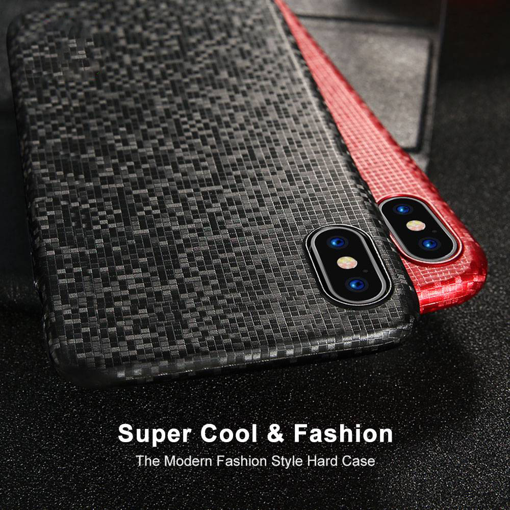 FLOVEME Mosaic Pattern Ultra Thin Hard PC Cover Case for iPhone X