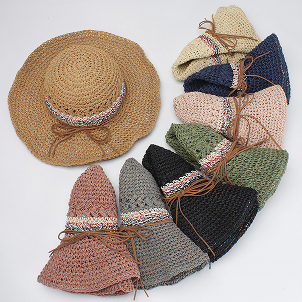 Women Summer Hollow Breathable Straw Hat