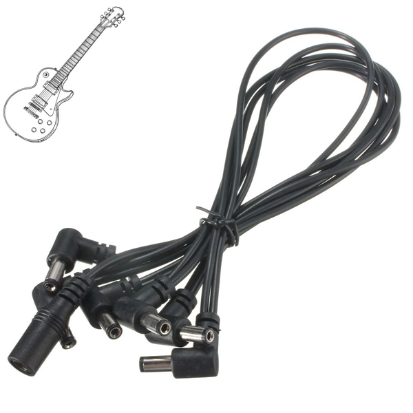 6 Way 9V Power Supply Splitter Cable Daisy Chain for Electric Guitar Effect Pedal