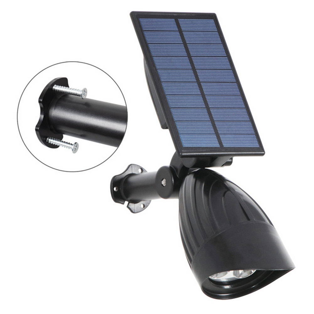 3W Solar Powered 3 LED Light-controlled Lawn Light Outdoor Waterproof Yard Wall Landscape Lamp