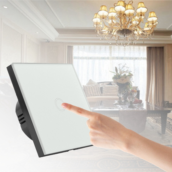 Crystal Touch 1 Ring LED Wall Samrt Switch Panel White/Black/Gold