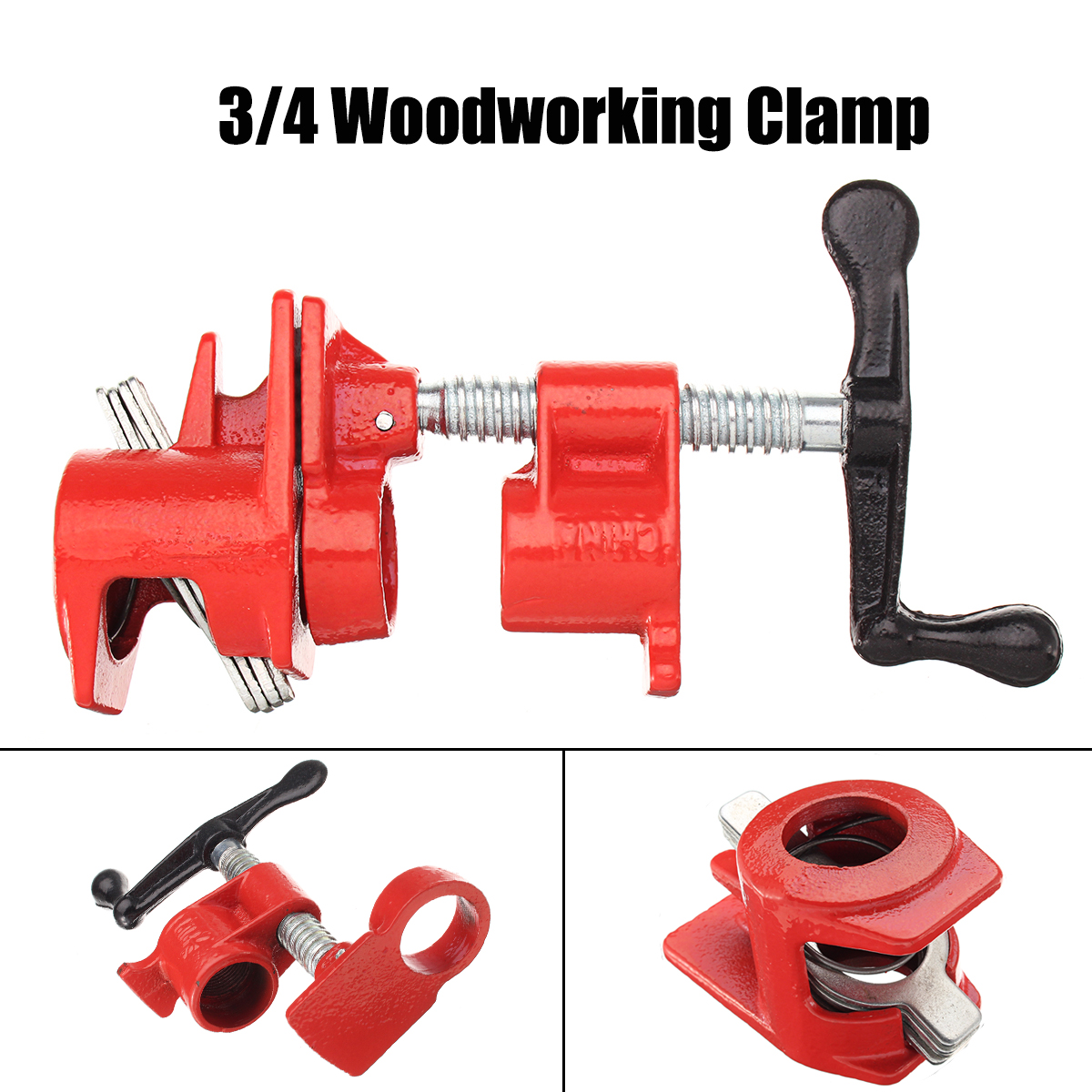 3/4 Inch Wood Gluing Pipe Clamp Set Heavy Duty PRO Woodworking Cast Iron