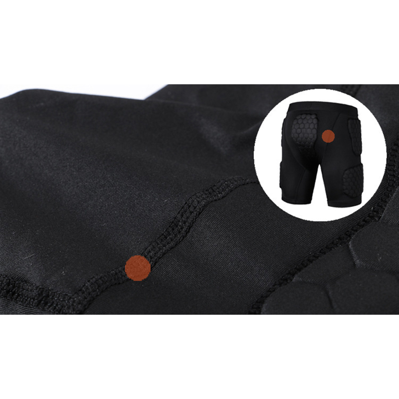 Mens Honeycomb Anti-collision Sports Shorts