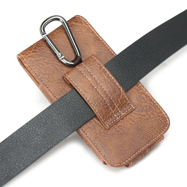 Universal Outdoor Leather Wallet Card Solt Pouch Waist Bag Case For Phone From 5.1 to 6.3 Inch